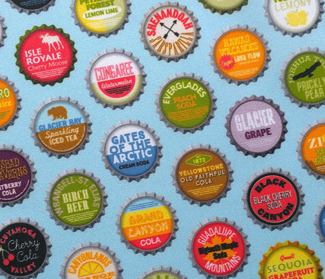 Soda Nation (Blue Raspberry) || bottlecap bottle cap national park America United States nps polka dots typography cola travel summer food drink vacation