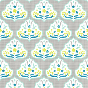 Scandi Damask Mint