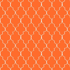 Hand Drawn Trefoil, Orange
