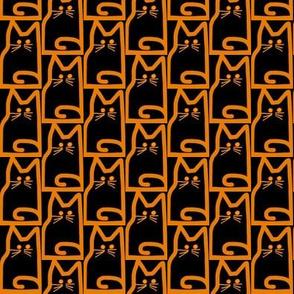 Stacked Cats Orange Black