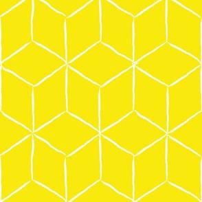 Hand Drawn Cubism, Yellow