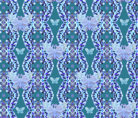 butterflypatterngreen fabric by greenedevine on Spoonflower - custom fabric