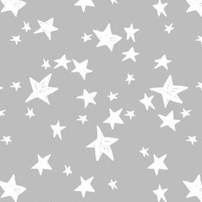 stars // slate grey star fabric nursery baby design andrea lauren fabric