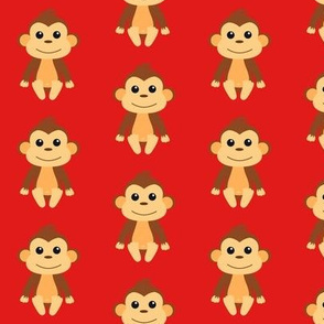 Cheeky Monkey Red