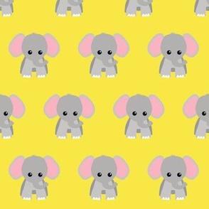 Baby Elephant Yellow