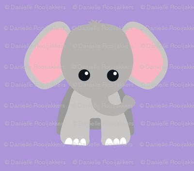 Baby Elephant Purple
