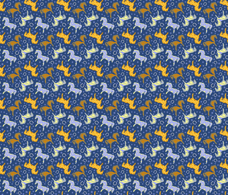 Horse Dreams fabric by eppiepeppercorn on Spoonflower - custom fabric