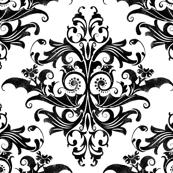 Calvarium Damask - black on white