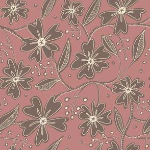 Morocco Mandela-Soft Rose Floral