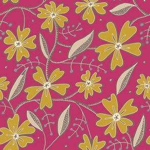Morocco Mandela-Fushia Floral