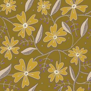 Morocco Mandela-Mustard Floral