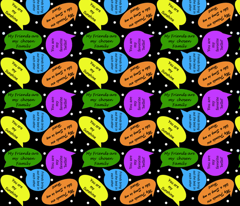 My Friends fabric by myndfulmotif on Spoonflower - custom fabric