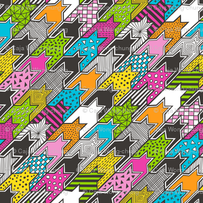 houndstooth geometric popart doodle