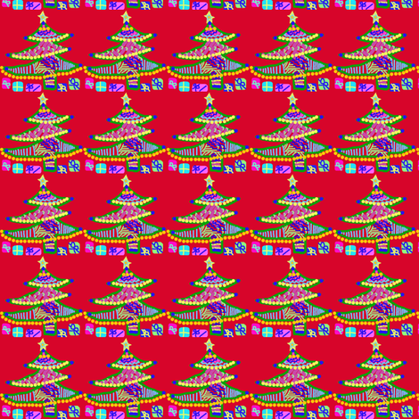 Sugar Cookie Christmas Tree fabric by kimruss@thatcatart on Spoonflower - custom fabric