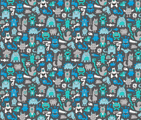 Monsters fabric by caja_design on Spoonflower - custom fabric