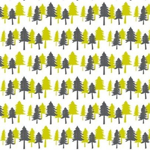 Green & Grey Trees