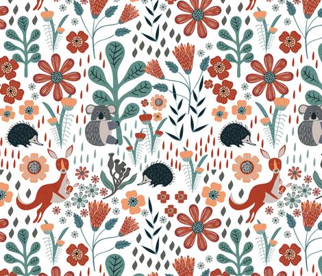 Australia fabric by melarmstrongdesign on Spoonflower - custom fabric