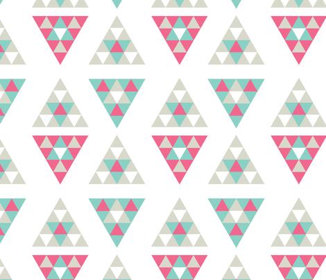 _triangle-grey-2 fabric by deannadolbel on Spoonflower - custom fabric