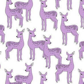 Fawn - Wisteria Purple on White by Andrea Lauren