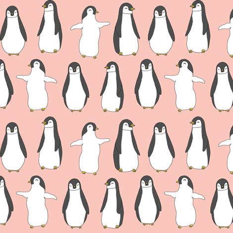penguin // baby penguins pingu cute pink nursery baby fabric baby animals design fabric by andrea_lauren on Spoonflower - custom fabric