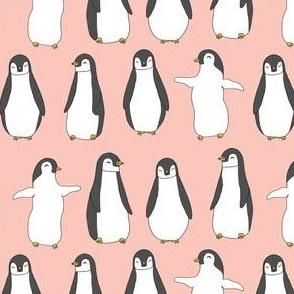 penguin // baby penguins pingu cute pink nursery baby fabric baby animals design