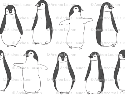 penguin // baby penguin pingu cute winter animals white nursery baby animals fabric