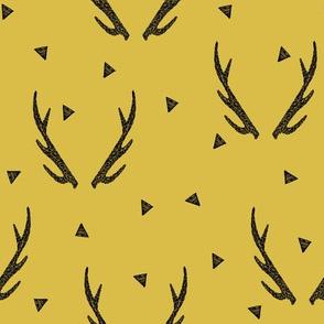 antlers // antler triangle mustard camping kids baby