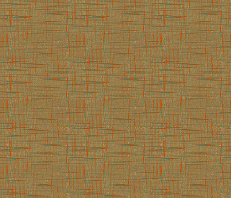 Floating Flowers Static in Orange fabric by anniedeb on Spoonflower - custom fabric