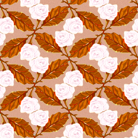 Pink Roses 4, Pale fabric by eclectic_house on Spoonflower - custom fabric