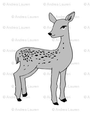 deer // fawn grey plush plushie cut and sew pillow grey kids nursery print
