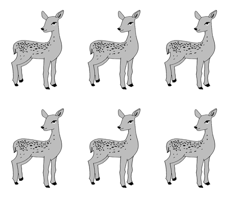 deer // fawn grey plush plushie cut and sew pillow grey kids nursery print fabric by andrea_lauren on Spoonflower - custom fabric