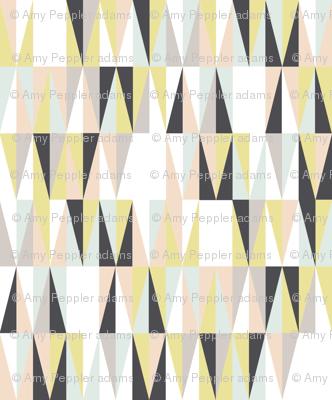 Harrah (Custom Girls)    atomic midcentury modern Las Vegas tile triangles geometric diamonds 50s 60s