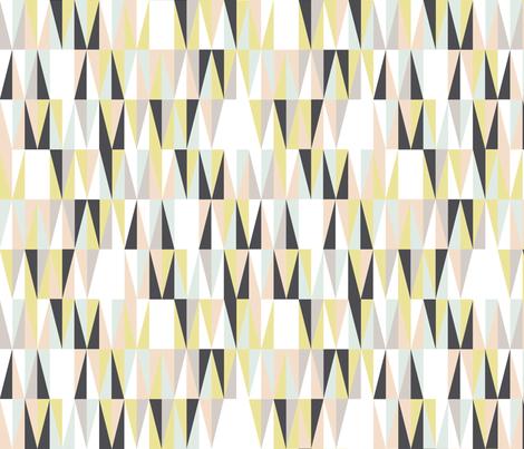 Harrah (Custom Girls)    atomic midcentury modern Las Vegas tile triangles geometric diamonds 50s 60s fabric by pennycandy on Spoonflower - custom fabric
