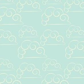 ponycorn clouds teal