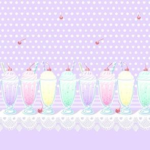Pastel Cute Milkshake (short)- Violet