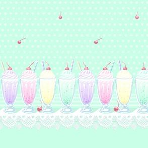 Pastel Cute Milkshake (short)- Mint