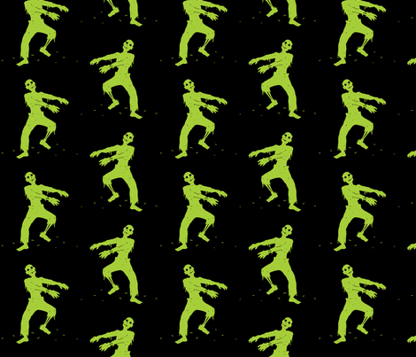 Zombie Pattern fabric by ophelia on Spoonflower - custom fabric