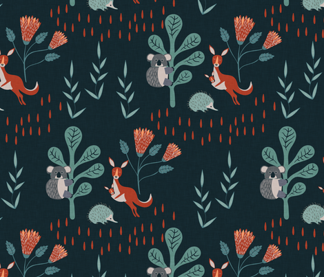 Forest Friends fabric by melarmstrongdesign on Spoonflower - custom fabric
