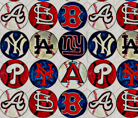 Take me out to the ballgame fabric by mandy_b on Spoonflower - custom fabric