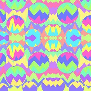 Neon Chevron Kaleidoscope