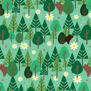 Pines and Daisies