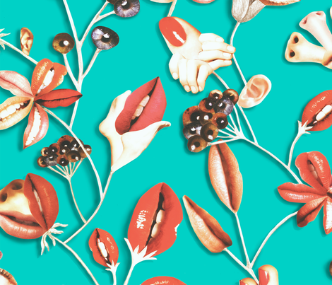 collageprinting fabric by lauredesigns on Spoonflower - custom fabric