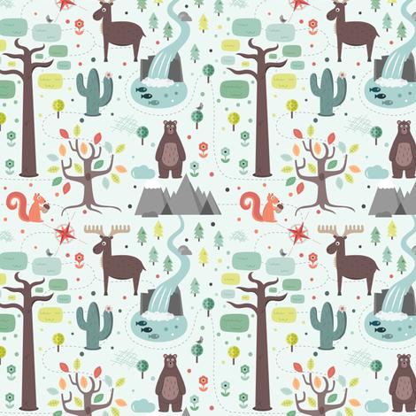 Parken fabric by la_fabriken on Spoonflower - custom fabric
