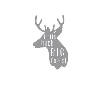 Little Buck Pillow - Gray