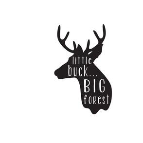 Little Buck Pillow - Black