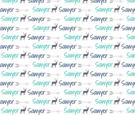 Cool Sawyer  fabric by ninathomas on Spoonflower - custom fabric
