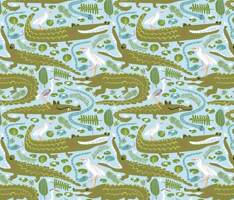 Everglades Alligators  fabric by pattyryboltdesigns on Spoonflower - custom fabric