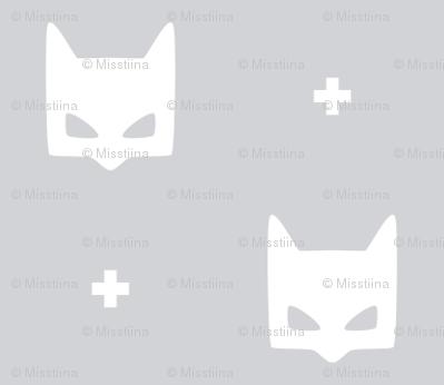 batmask + white grey #D2D3D6