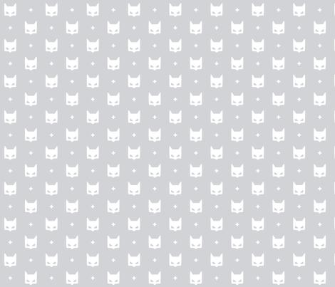 batmask + white grey #D2D3D6 fabric by misstiina on Spoonflower - custom fabric
