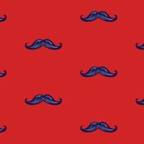 Mini Mustaches - Red